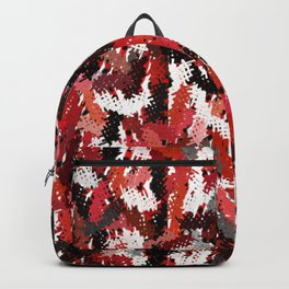 Black, White and Red Tapestry Backpack