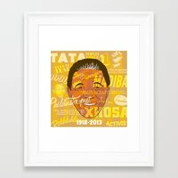 mandela Framed Art Prints featuring Mandela by Gavin Morley