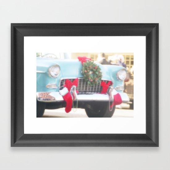 Holiday Cruisin' Framed Art Print