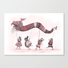 Dragon Parade  Canvas Print