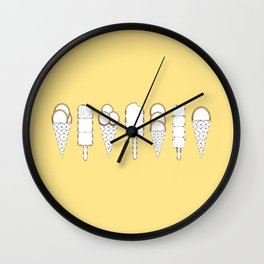 Ice Creams Wall Clock