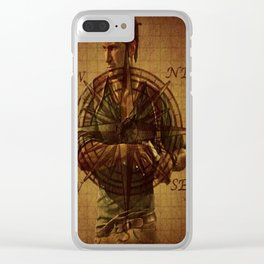 Compass of Uncharted Lands Clear iPhone Case