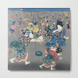Utagawa Kunisada  Japanese Woodblock Print Metal Print
