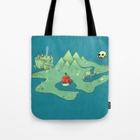 neverland Tote Bags featuring Neverland by Quinn Shipton