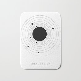 The Solar System (with Pluto) Bath Mat