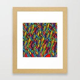 Rainbow Unicorn Fries Framed Art Print