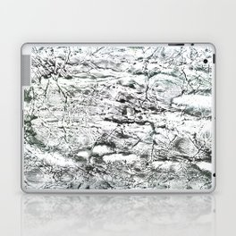 Gray marble watercolor Laptop & iPad Skin