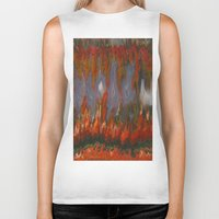 agate Biker Tanks featuring Christmas Tree Plume Agate by The Agate Hunter