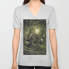 Harry and Dumbledore in the Horcrux Cave Unisex V-Neck