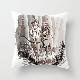 The Protectors of the Forest Throw Pillow
