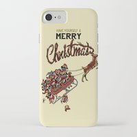 pugs iPhone & iPod Cases featuring Pugs Christmas by Huebucket