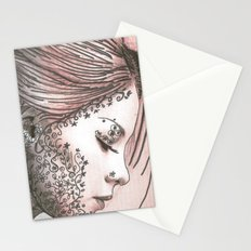 Flower Face  Stationery Cards