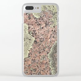 Moss and Stone Clear iPhone Case
