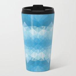 Blue mozaic design Travel Mug