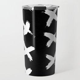 The X White on Black Travel Mug