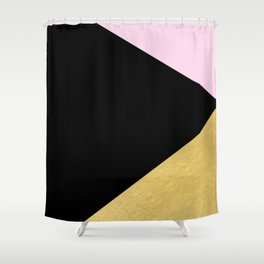 Color Block Glam Triangles Shower Curtain
