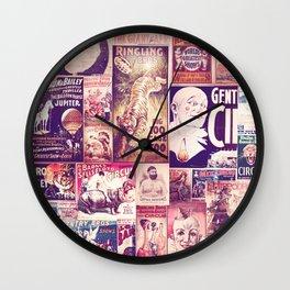 Circus Collage 2 Wall Clock