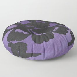 Purple Striped Rose Silhouette Art Design by Christina Appling Floor Pillow