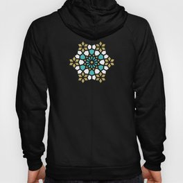 Persian Mosaic – Turquoise & Gold Palette Hoody