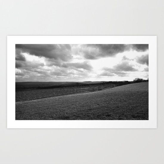 Quiet Storm II bw Art Print