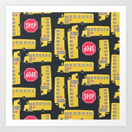 Bus Pattern Art Print