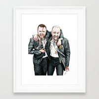 breaking bad Framed Art Prints featuring Breaking Bad by 13 Styx