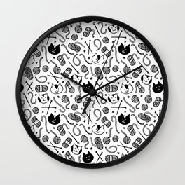 Cats LOVE Yarn! Wall Clock