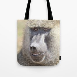 Portrait of a baboon Tote Bag