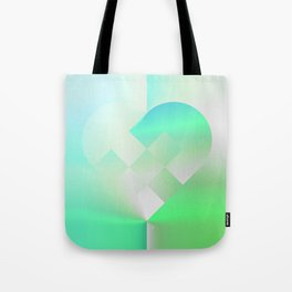 Danish Heart Mint Tote Bag