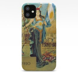 1910 Fernet Branca Liqueur Aperitif Advertisement Poster Print iPhone Case