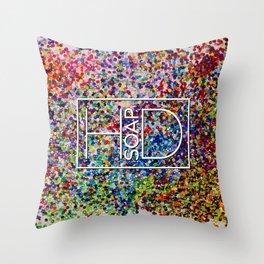 Logo on Sequins Throw Pillow