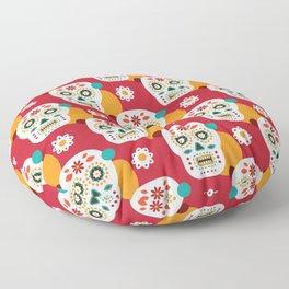 Mexican skull Floor Pillow