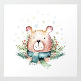 Christmas Bear Art Print