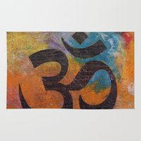 om Area & Throw Rugs featuring Om by Michael Creese