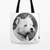harry Tote Bags featuring Harry by Jan Szymczuk