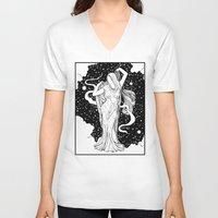 ghost V-neck T-shirts featuring Ghost by Corinne Elyse