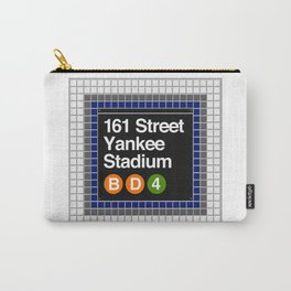 subway yankee stadium sign Carry-All Pouch