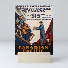 cartello Canadian Pacific Steamships Mini Art Print