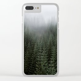 Dizzying Misty Forest Clear iPhone Case