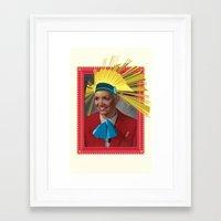 megan lara Framed Art Prints featuring Lara by Robert Cooper