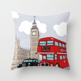 London style Throw Pillow