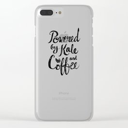 Powered by Kale and Coffee Clear iPhone Case