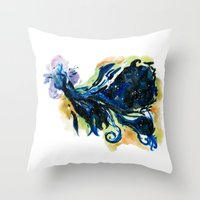 tardis Throw Pillows featuring Tardis  by DifficultyEasy