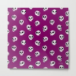 Spooky Skulls – Purple Metal Print