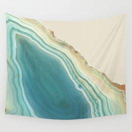 Geode Turquoise + Cream Wandbehang