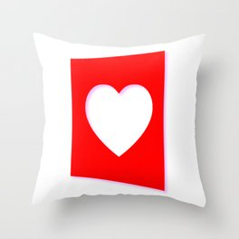 Valentine Heart Background Throw Pillow
