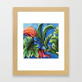 Beaux Arts Green Leaf Relief Framed Art Print