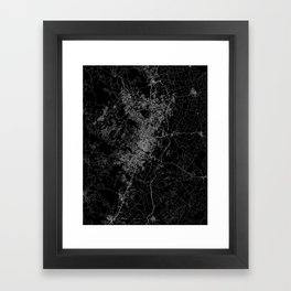 Austin map Texas Framed Art Print