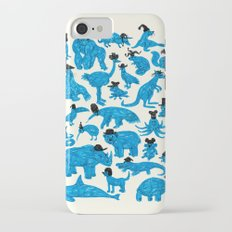 Blue Animals Black Hats iPhone 7 Slim Case