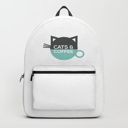 Cats and coffee Backpack